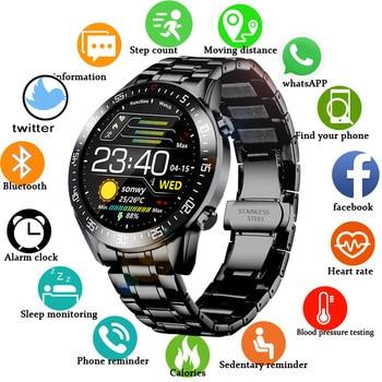 LIGE 2020 New Steel Band Digital Watch Men Sport Watches Electronic LED Male Wrist Watch For Men Clock Waterproof Bluetooth Hour