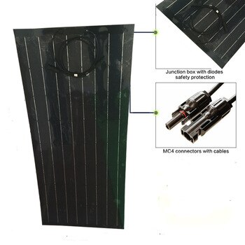 New energy products, the new semi-flexible solar panel, 100w work efficiency